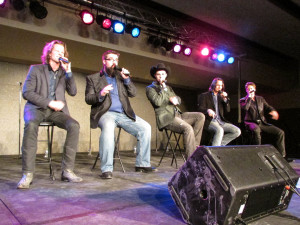 Photo by Emma St. Aubin. A capella country  group Home Free performed at UWSP.