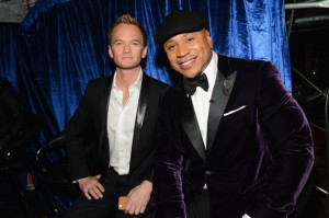 Photo courtsey of grammy.com Neil Patrick Harris (left) and Host LL Cool J (right) pose together at the 56th annual Grammys.