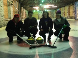 Photo by Kylie Able. The curling team has experienced success early in their season.