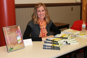 Photo by Morgan Schwantz. Rachel Allord at her book signing on Monday.