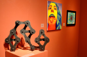 Photos by Emily Hoffmann. Student works in a variety of different media were on display in the Carlsten Gallery last month.