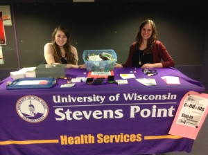 Photo courtesy of Becky Vosters Julie Martin and Courtney Gonnering are the Reproductive Health Peer Educators.