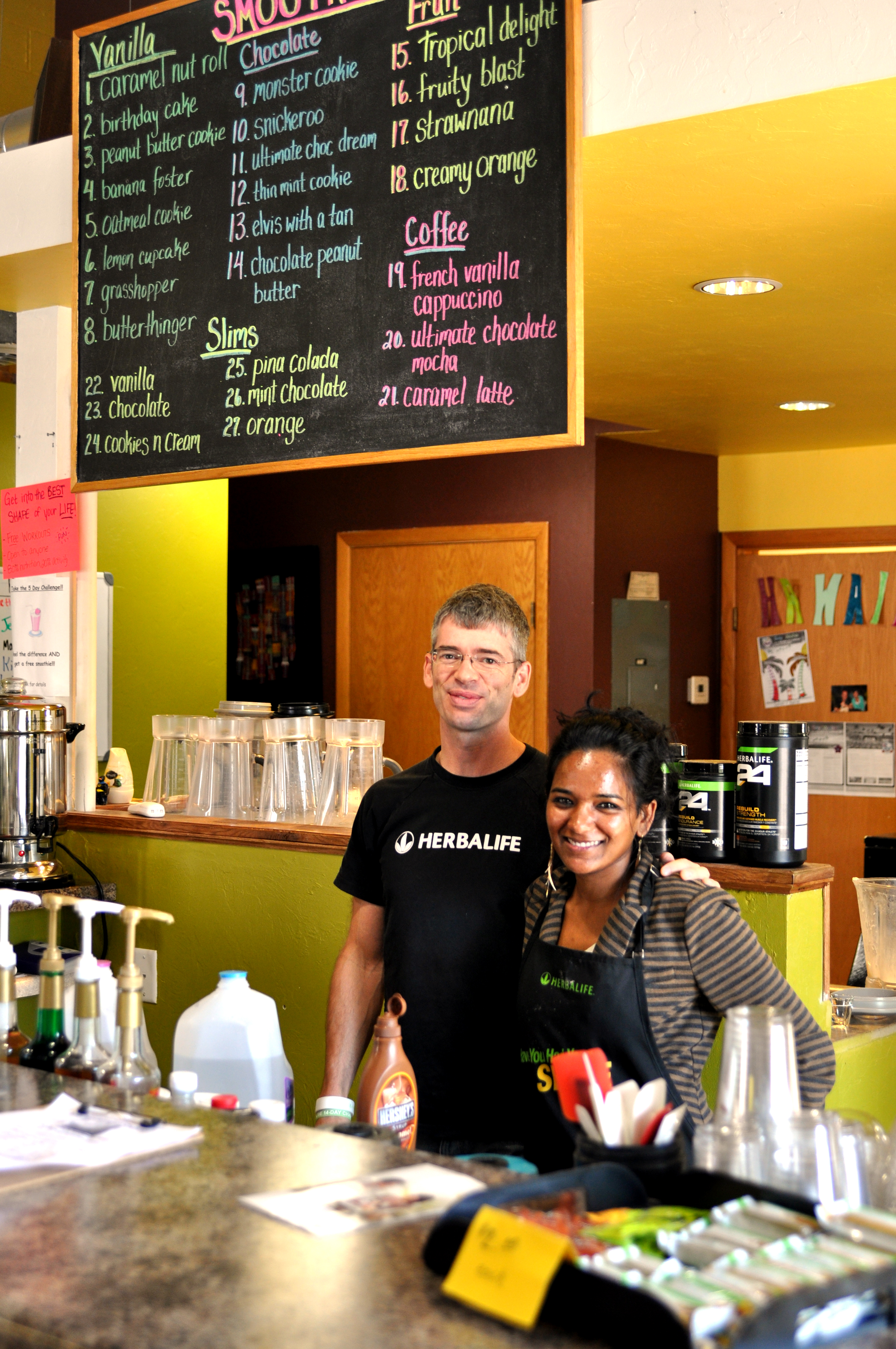 Sumathy Knappen and Jay Sandifer are employees at Revive. Photo by Emily Hoffmann.