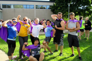 The Hansen Hall team shows off their super style. Photo by Emily Showers.