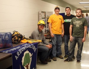Student organizations share more information to interested students. Photo courtesy of UWSP College of Natural Resources.
