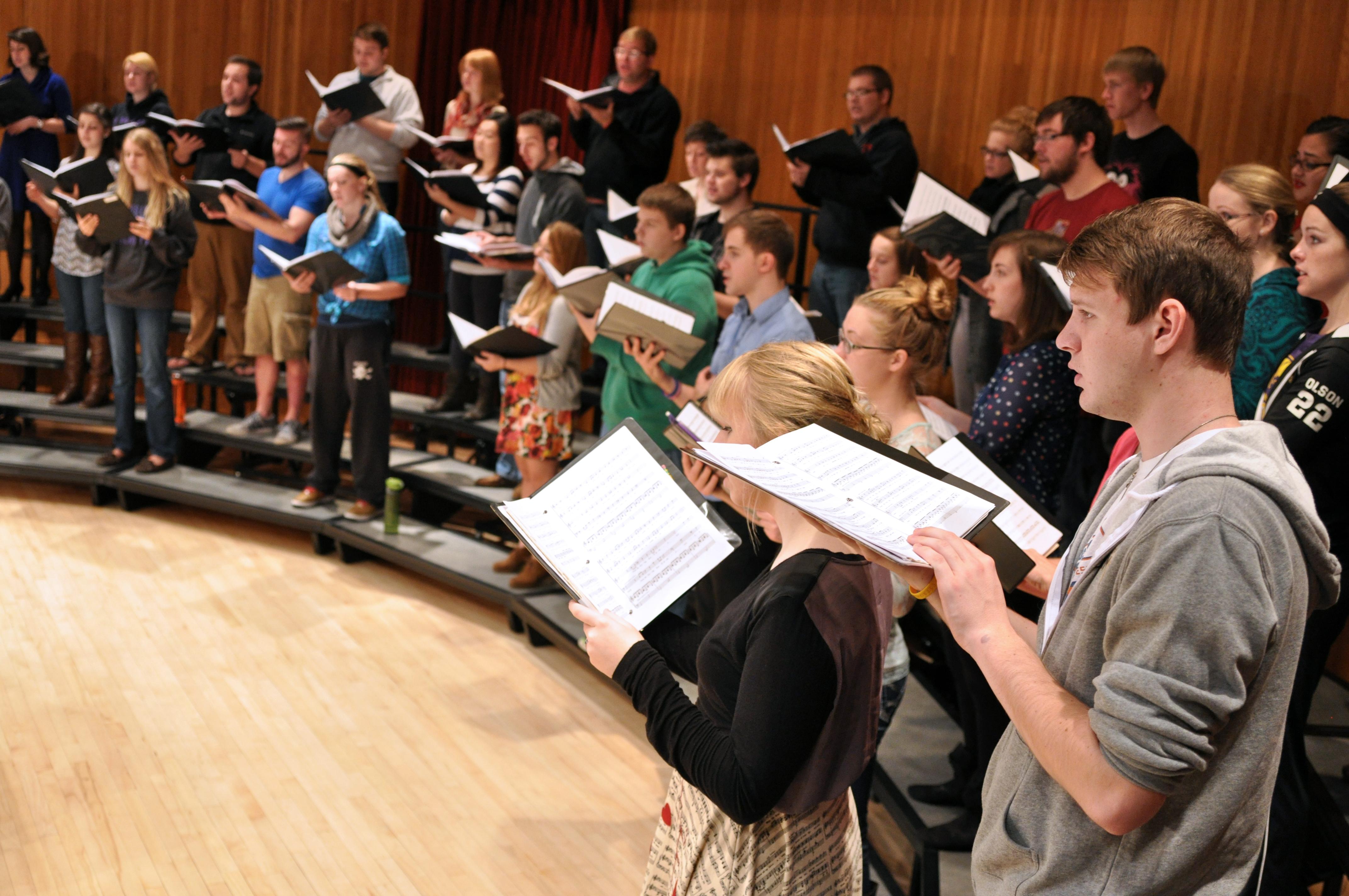 Concert Preparation Rewards Choir Students