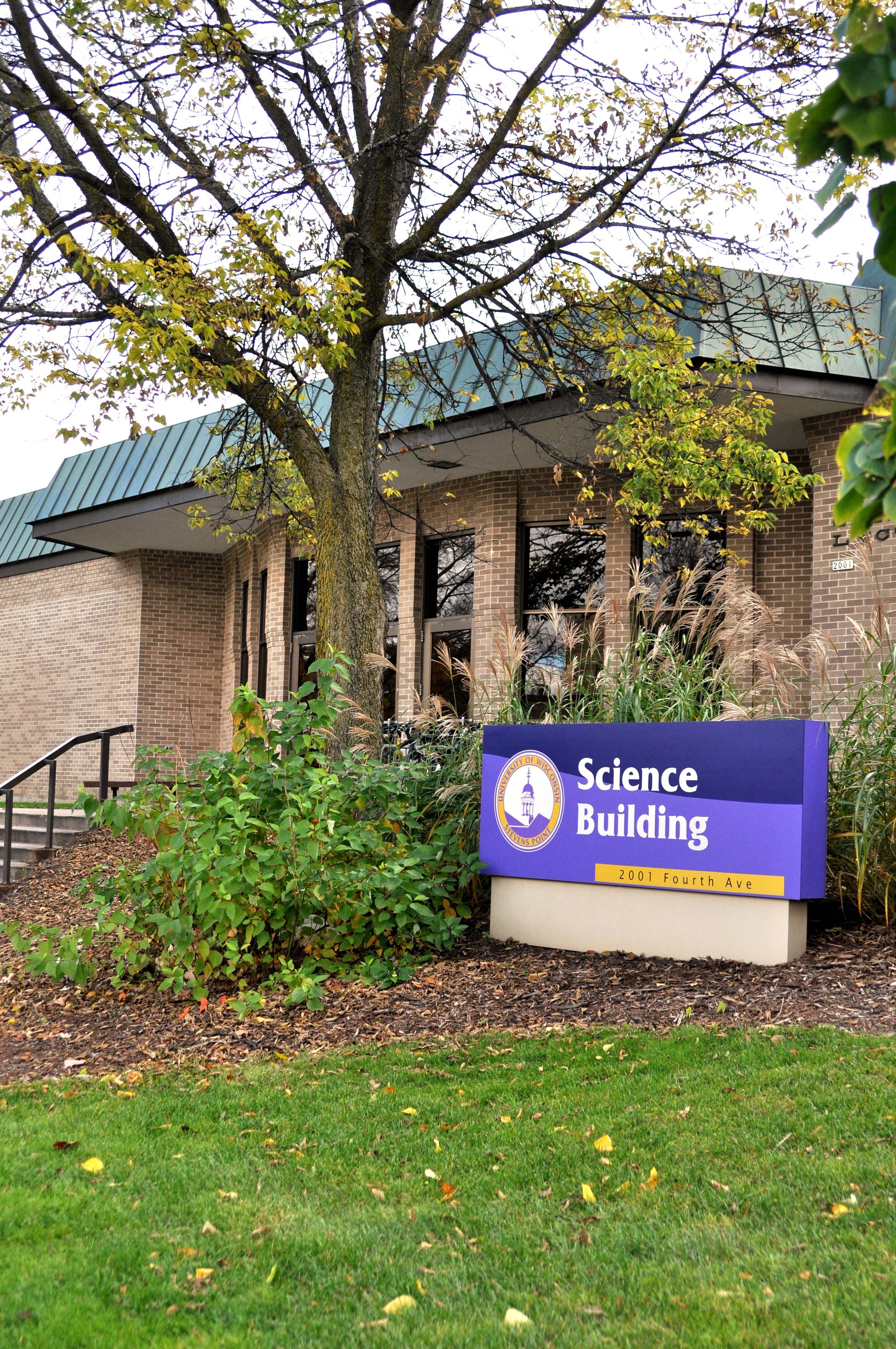 The current UWSP science building. Photo by Emily Hoffmann.