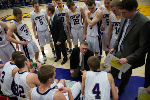 Bob Semling is in his tenth seasons as UWSP head coach. Photo by Jack McLaughlin.