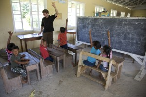 The Peace Corps offers volunteer opportunities in fields such as education. Photo courtesy of The Peace Corps.