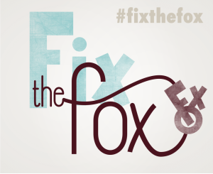 """Fix the Fox"" campaign logo."