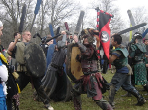 A belegarth battle. Photo courtesy of belegarth.com