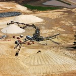 A frac sand mine operated by northern frac proppants in western Wisconsin. Photo courtesy of nfproppants.