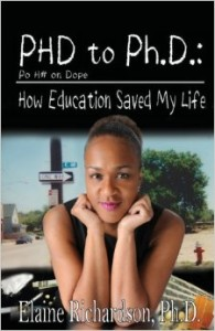 "Richardson's book entitled ""PHD to Ph.D: How Education Saved My Life."" Photo courtesy of amazon.com."