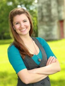 Kelly Lutz, UWSP grad and current graphic designer for the Culvers franchise. Photo courtesy of Kelly Lutz.