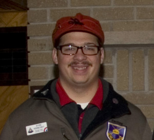 Ryan Kernosky, proud curling star. Photo courtesy of Spiel Rice Lake Curling Club.