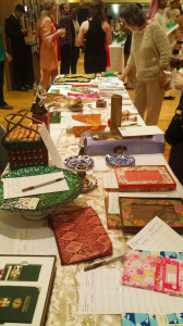 Attendees bidding on items. Photo by Allison Birr.