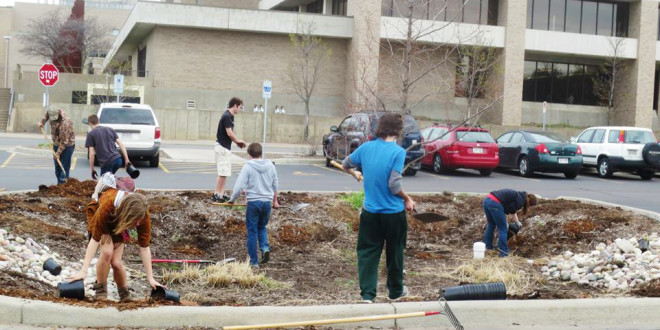 Trees, Shrubs, Fruit Planted in Honor of Earth Week
