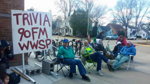 Passionate trivia players camped out for registration. Photo courtesy of WWSP's Facebook.