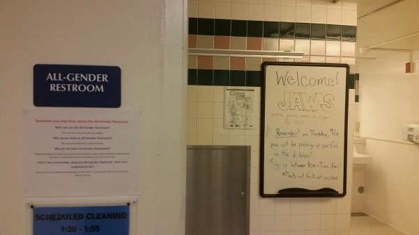Co-ed bathrooms are new as of fall 2015.