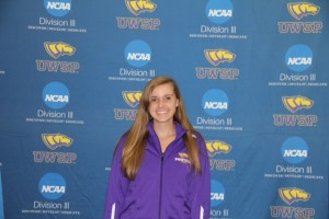 Courtesy of UWSP Athletics Emily Kleist is new to the team this year and hopes to bring her success from UW-Waukesha.