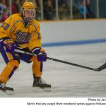 Men's Hockey swept their weekend series against Finlandia University. Photo by Jack McLaughlin.