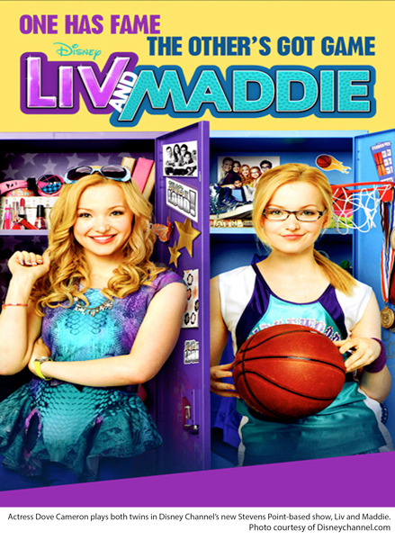 Actress Dove Cameron plays both twins in Disney Channel's new Stevens Point-based show, Liv and Maddie. Photo courtesy of Disneychannel.com