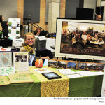 The Farmshed was a popular booth during Campus Sustainability Day. Photo by Emily Hoffman.