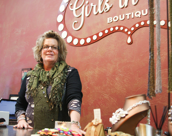 Margaret O'Connor Govett- owner of the new Girls in Pearls Boutique located in downtown Stevens Point.
