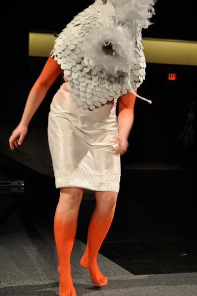​A wearable art piece by Karolina Romanoska is  featured at Arts Bash 2011. Art students create wearable  art pieces for a fashion show at Arts Bash.