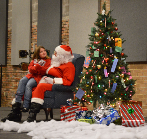 Community members and students filled the Encore Saturday to visit with  Santa and decorate cookies and cards. Photos by Kaitlyn Luckow.