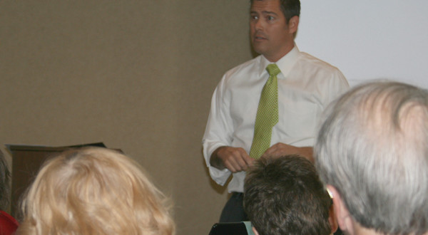 Duffy Conducts Town Hall Meeting in Point
