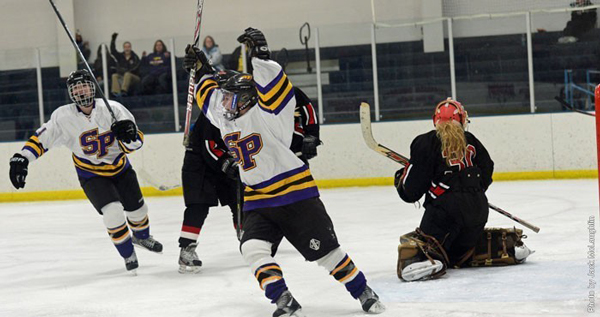 The University of Wisconsin - Stevens Point women's hockey team will travel to defending league champion UW-River Falls this weekend. Photos by Jack McLaughlin.