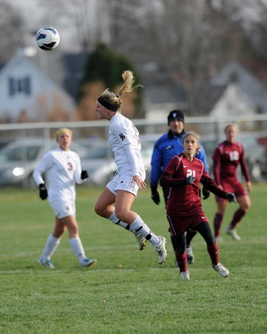 After defeating the UW-La Crosse Eagles, The Pointers have advanced to the second round of the 2012 Wisconsin Intercollegiate Athletic Conference (WIAC) women's soccer tournament. Photos by Jack McLaughlin.