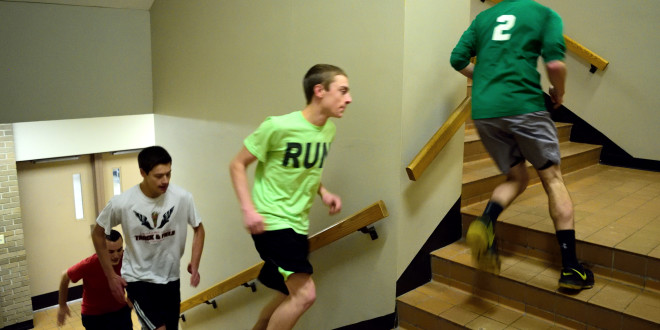 Athletes Step Up Their Game with Stair Workout
