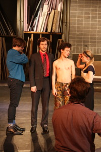 Rehearsal for the play on Feb. 24th. Photo by Allison Birr