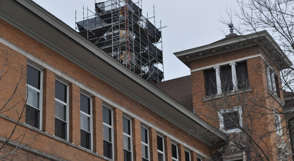 Despite coming cuts, UWSP finds funds to renew Old Main cupola