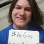 Ethan Cates advocating for the No Gray campaign. Photo by Ethan Cates