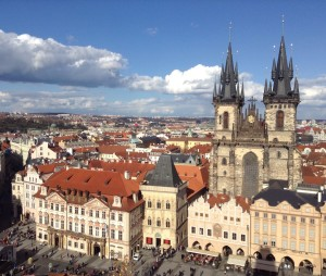 View from Old Town Hall in Prague. Photo courtesy of Mary Knight.