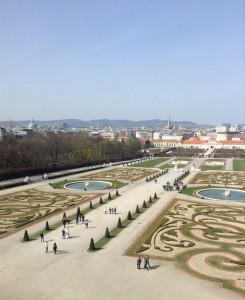 View from the Belvedere Palace in Vienna, Austria. Photo courtesy of Mary Knight.