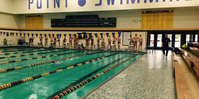 Uwsp swimming splashes into new season the pointer University of wisconsin swimming pool