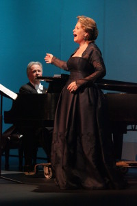 Renee Fleming performs in Michelsen Hall in the Noel Fine Arts Center on Wednesday, Oct. 12. Photo courtesy of Colton Oltesvig.