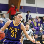 Senior guard Autumn Hennes was awarded the Pointers Tip-Off Tournament Most Outstanding Player after scoring 43 points during the weekend tournament. Photo by Kylie Bridenhagen.
