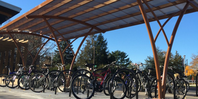 Green Fund Efforts Pay Off with Building of Bicycle Shelter