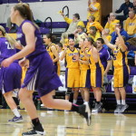 Pointers celebrate a 3–Point shot | Photo Courtesy of Dalen Dahl