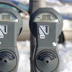 Campus parking meters.   Photo Courtesy of Dalen Dahl.