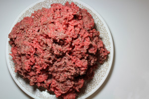 Three pounds of beef hamburger | Photo Courtesy of Dalen Dahl