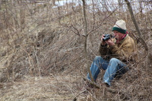 Don Isherwood enjoys taking pictures of the trout in his stream. Photo courtesy of Dalen Dahl.