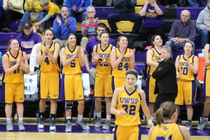 The Pointers applaud a play | Photo Courtesy of Dalen Dahl