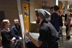 Free portraits done by students at Arts Bash, photo by Nomin Erdenebileg.