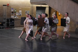 """""""Business Casual"""" performance during Arts Bash, photo by Nomin Erdenebileg."""